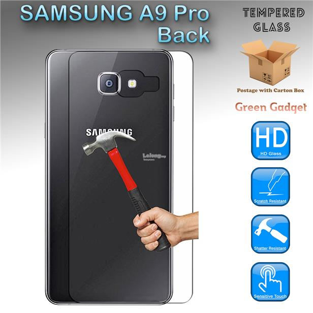 SAMSUNG A9 Pro Back Tempered Glass Screen Protector