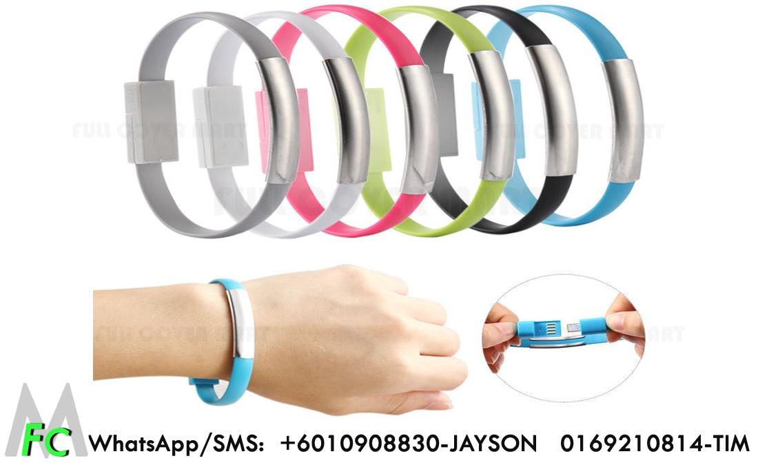 Samsung Band Usb Data Cable Noodle Portable Sync Charger Bracelet
