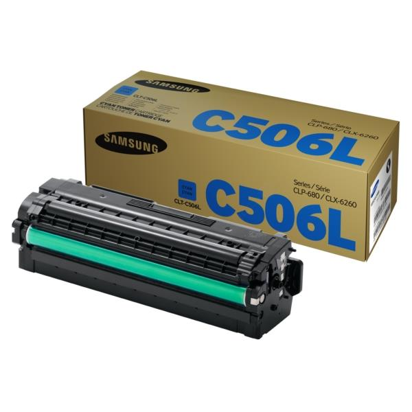 Samsung CLT-C506L Cyan Printer Toner 506 Genuine