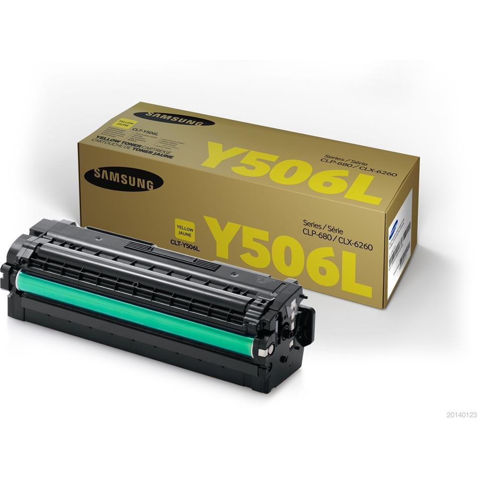 Samsung CLT-Y506L Yellow Printer Toner 506 Genuine