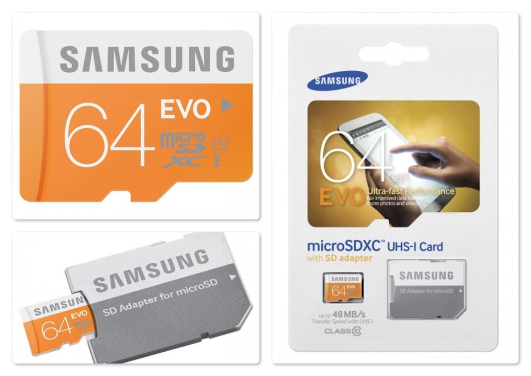 samsung 64gb evo micro sd sdhc uhs i class 10 memory card. Black Bedroom Furniture Sets. Home Design Ideas