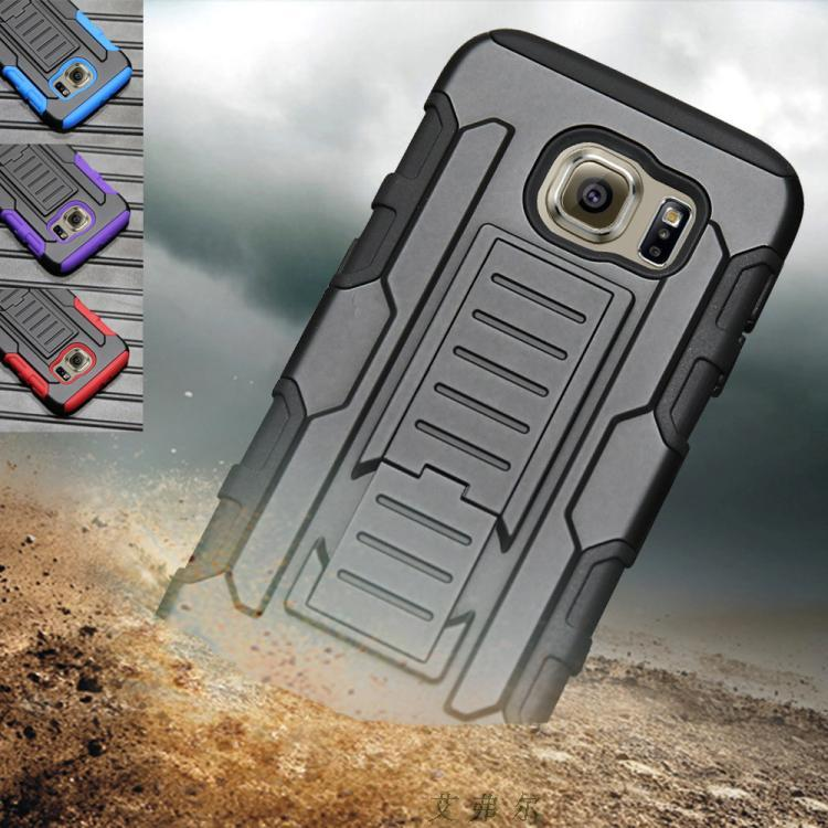 samsung G9280 S6 Edge Plus PC+TPU Armor Belt Case Cover Casing