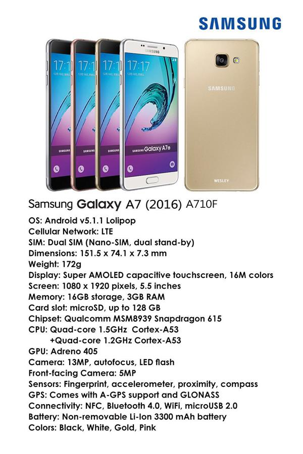 Samsung Galaxy A3 A5 A7 A9 Pro 2016 Ori SME Set FOC MicroSD