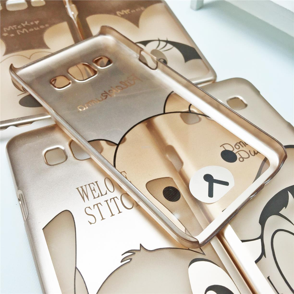 Samsung Galaxy A3 Cartoon Disney Gold Case