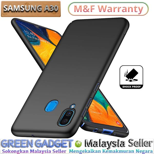 SAMSUNG Galaxy A30 Case Cover Thin Fit Hard (Black)