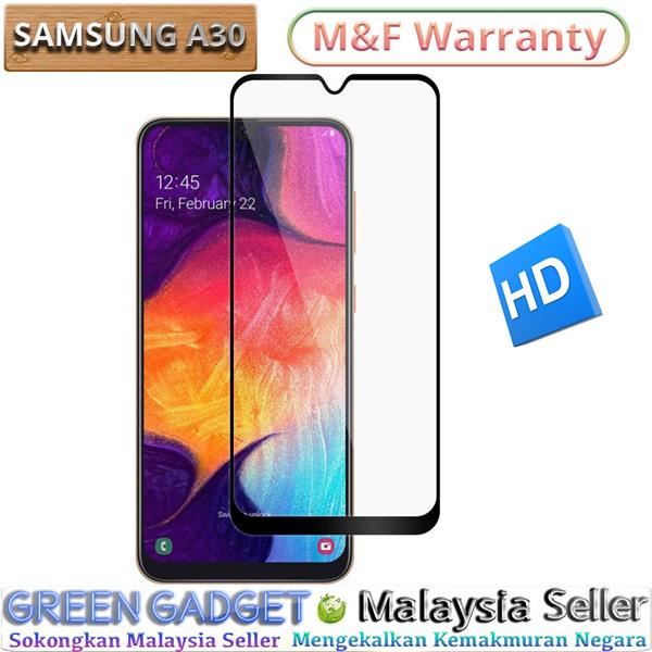 SAMSUNG Galaxy A30 Full Glue Screen Protector Tempered Glass