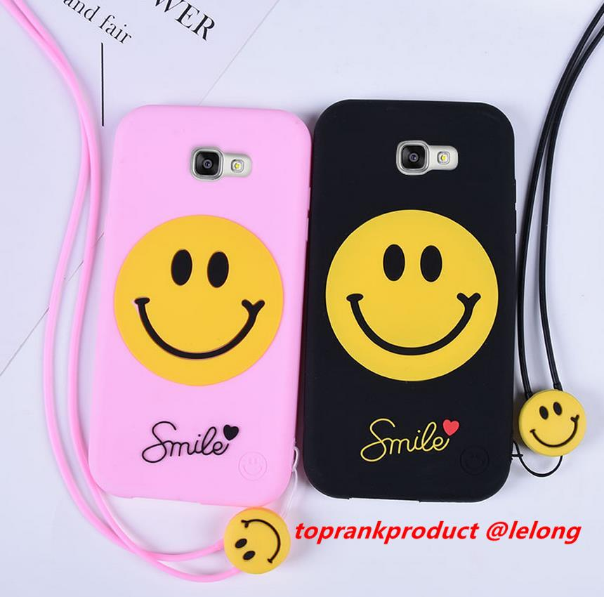 Samsung Galaxy A5 A7 2017 Smile Soft Silicone Armor Case Cover Casing
