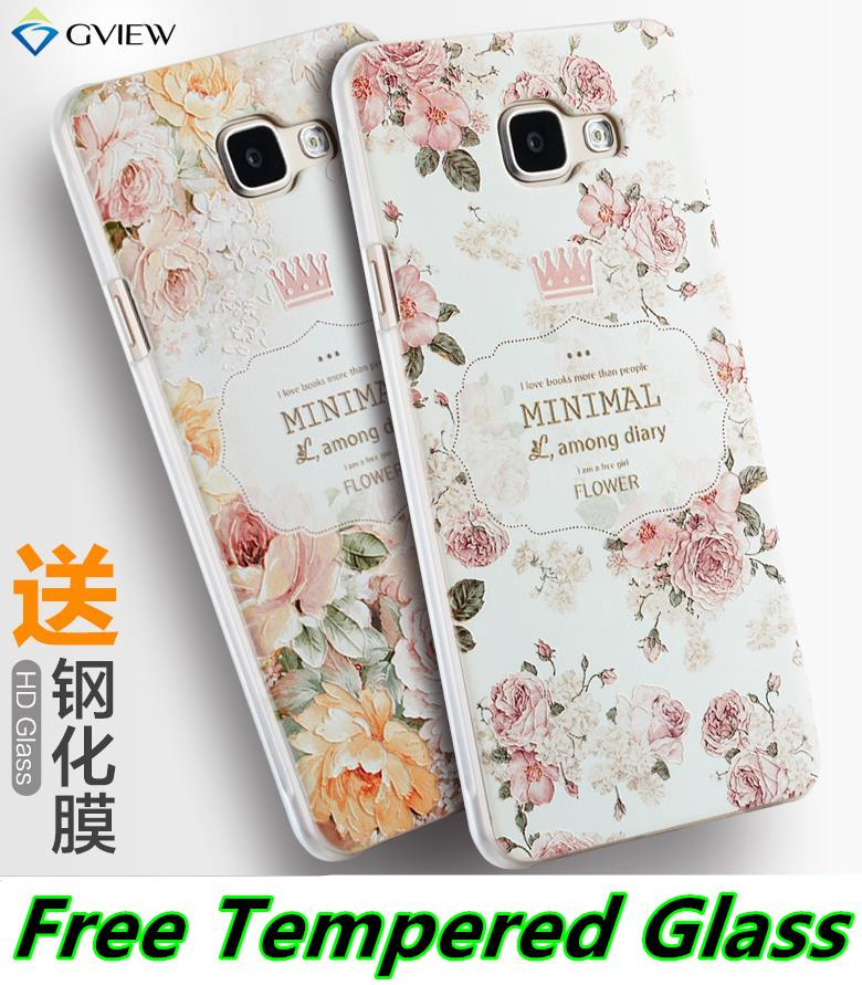 official photos 04f47 66e72 Samsung Galaxy A5 A7 A9 2016 3D Back Case Cover Casing +Tempered Glass