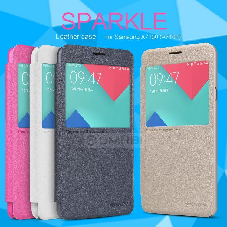 online store a0d9f 56dad Samsung Galaxy A5 A9 2016 Nillkin SPARKLE Window Flip Cover Case