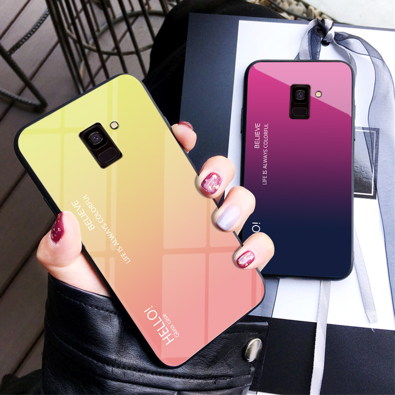 Samsung Galaxy A6 Plus A8 2018 A8 Plus 2018 Case Cover Casing Tempere