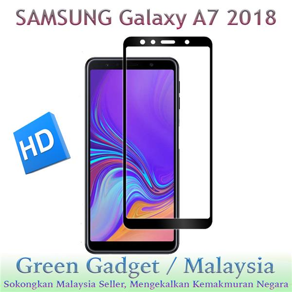 SAMSUNG Galaxy A7 2018 Full Glue Screen Protector Tempered Glass