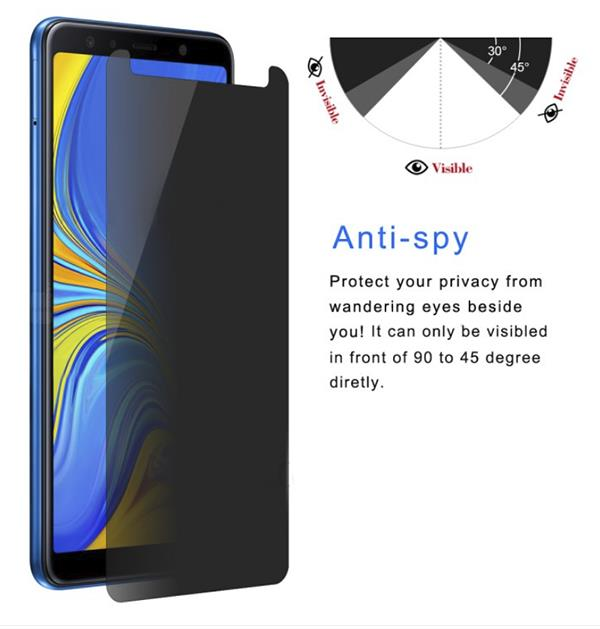 SAMSUNG GALAXY A7 (2018) HAT PRINCE PRIVACY TEMPERED GLASS PROTECTOR