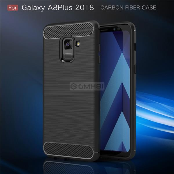wholesale dealer 7aa6f 2188b Samsung Galaxy A8 & A8+ Plus 2018 Brushed TPU Rugged Slim Cover Case