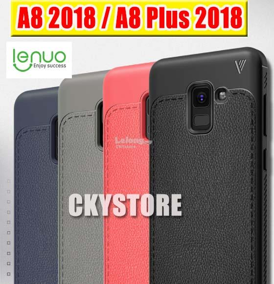 best service 4faed 92181 Samsung Galaxy A8 / A8 Plus 2018 LENUO Leather Full Protection Case