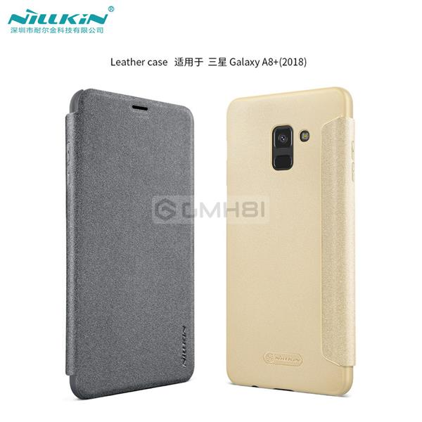 new style 2d768 665d0 Samsung Galaxy A8 A8+ Plus 2018 Nillkin SPARKLE Slim Flip Cover Case