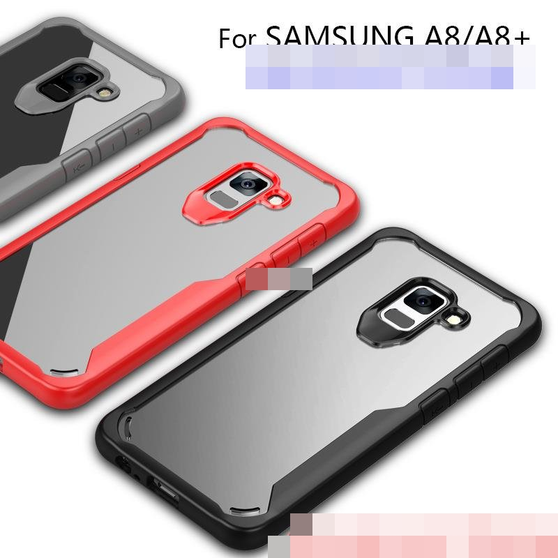 meet 705f0 76402 Samsung Galaxy A8 A8+ Plus 2018 ShakeProof Clear Case Cover Casing