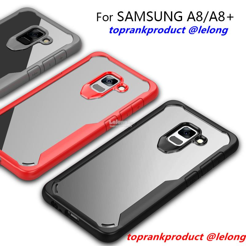 Samsung Galaxy A8 A8+ Plus 2018 ShakeProof Clear Case Cover Casing