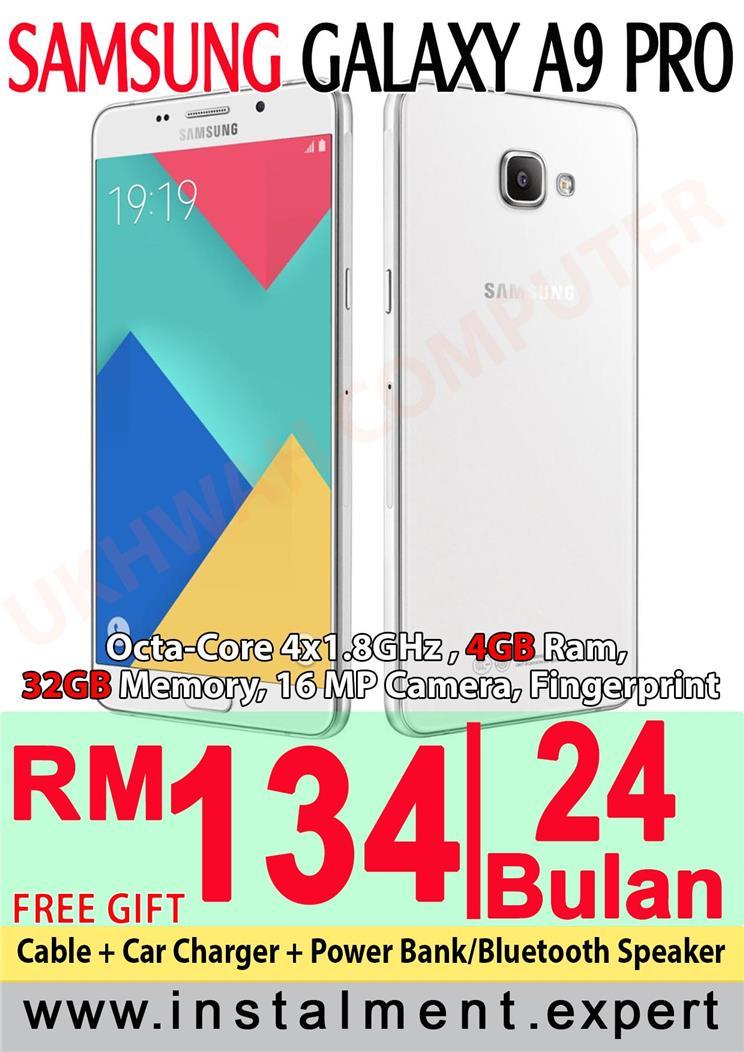 Samsung Galaxy A9 Pro 32GB Harga Ansuran Instalment AEON 24 Bulan