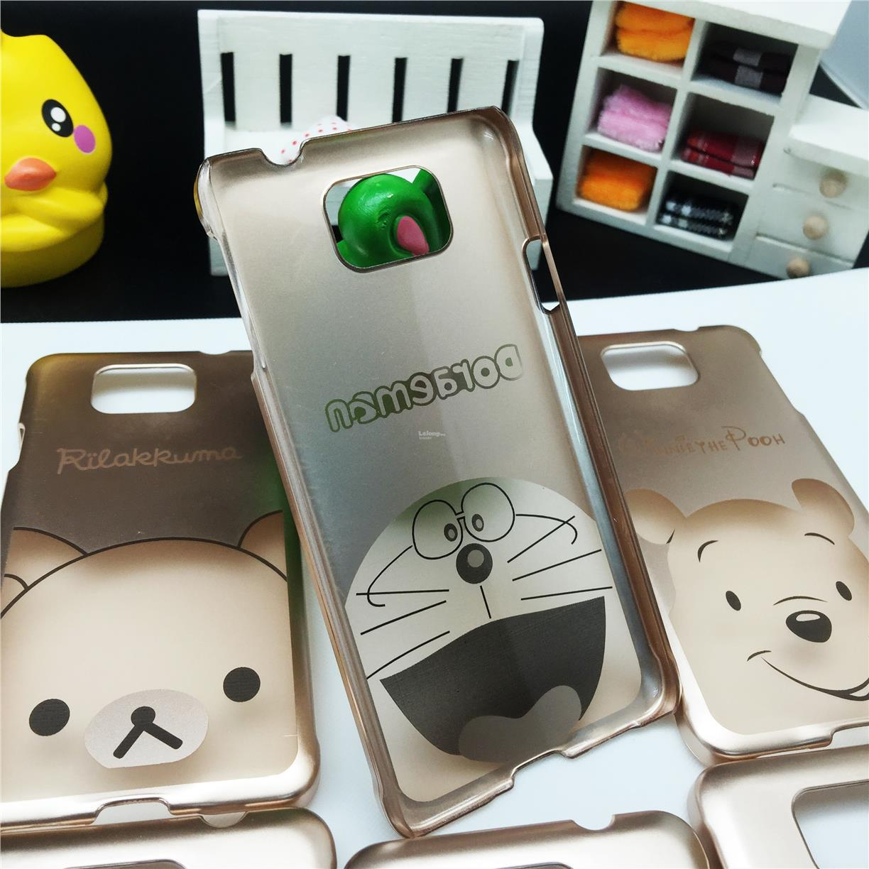 Samsung Galaxy Alpha G850 Cartoon Disney Gold Case