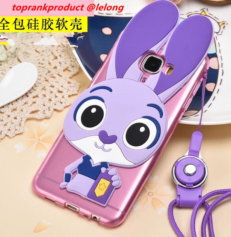 new product c3732 be7a0 Samsung Galaxy C9 Pro Rabbit Silicone TPU Back Armor Case Cover Casing