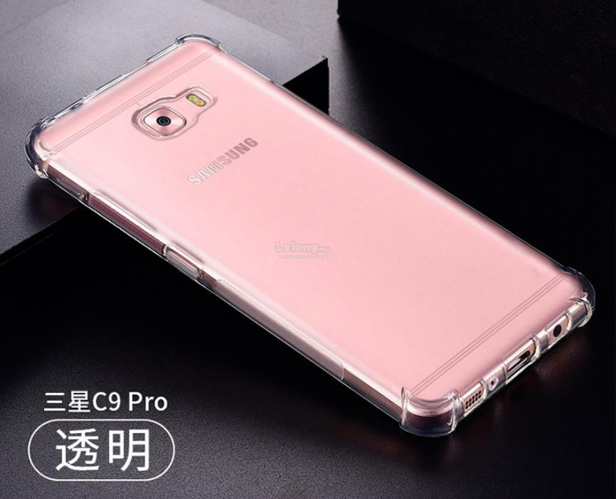 Samsung Galaxy C9 Pro Transparent ShockProof TPU Case Cover Casing