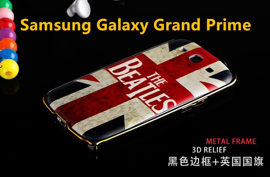 Samsung Galaxy Grand Prime 3D Relief Battery + Metal Bumper Case Cover