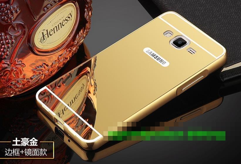 buy online 5a984 25c76 Samsung Galaxy Grand Prime Mirror Metal Bumper Back Case Cover Casing