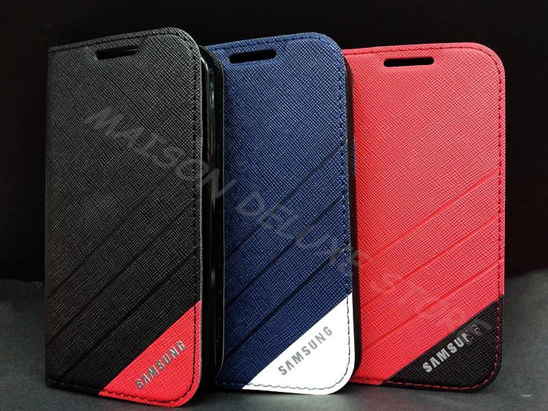 buy popular f65f5 24ee3 Samsung Galaxy J1 Logo Flip Stand Wallet Pouch Case