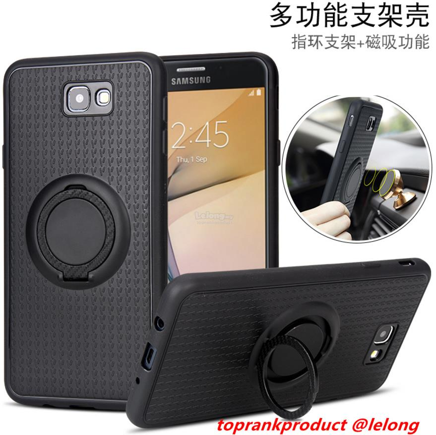 Samsung Galaxy J2 J5 J7 Prime Magnet Ring Stand Back Case Cover Casing