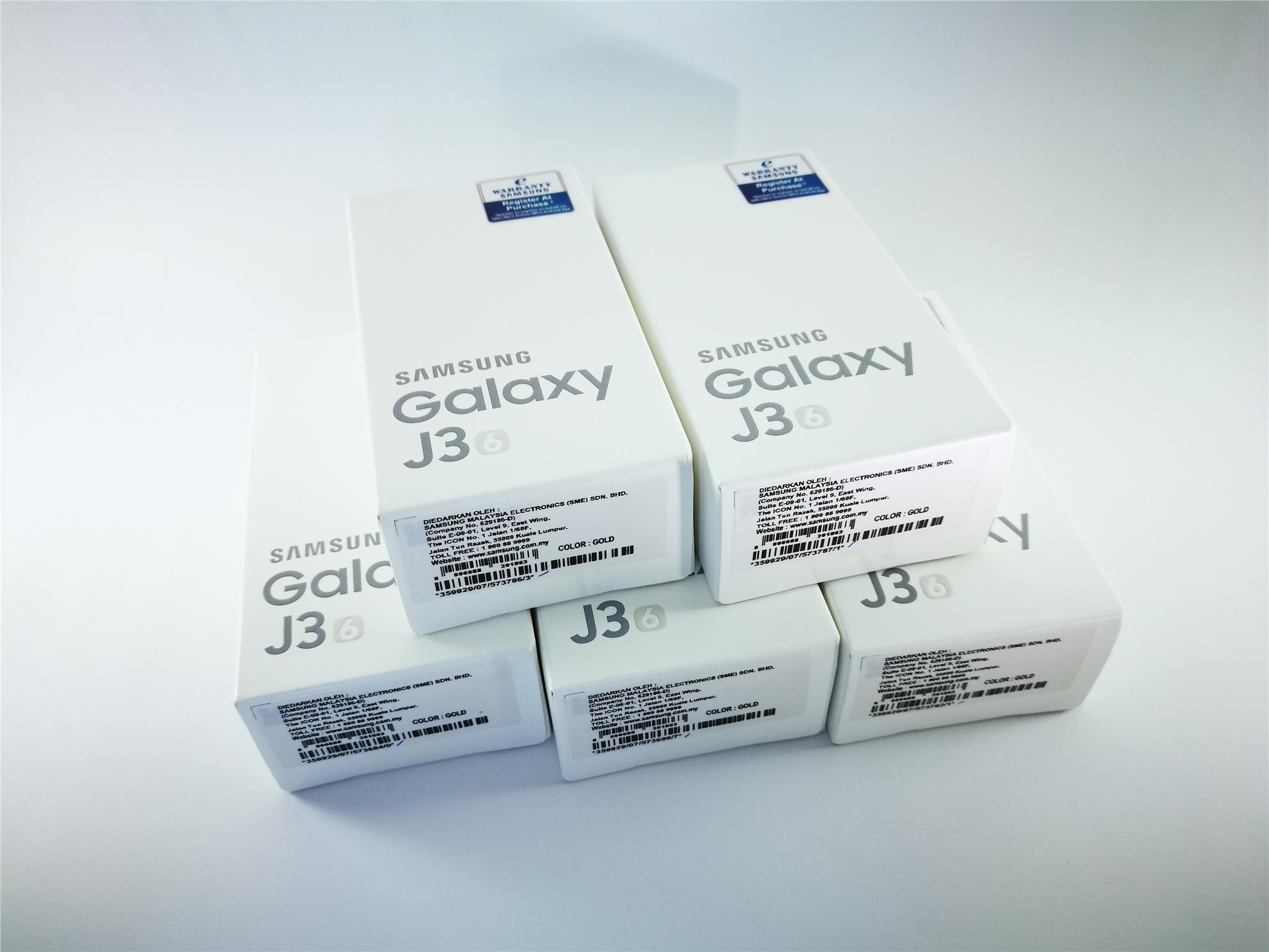 SAMSUNG GALAXY J3 ( 2016 ) / SME SET / GOLD / BRAND NEW / SEALED