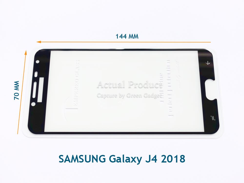 SAMSUNG Galaxy J4 2018 Full Glue Screen Protector Tempered Glass