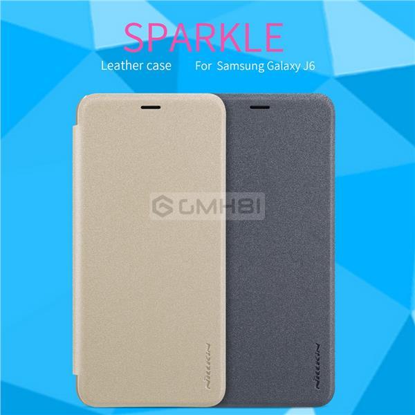 promo code c6bed 73235 Samsung Galaxy J4 J6 2018 Nillkin SPARKLE Leather Slim Flip Cover Case