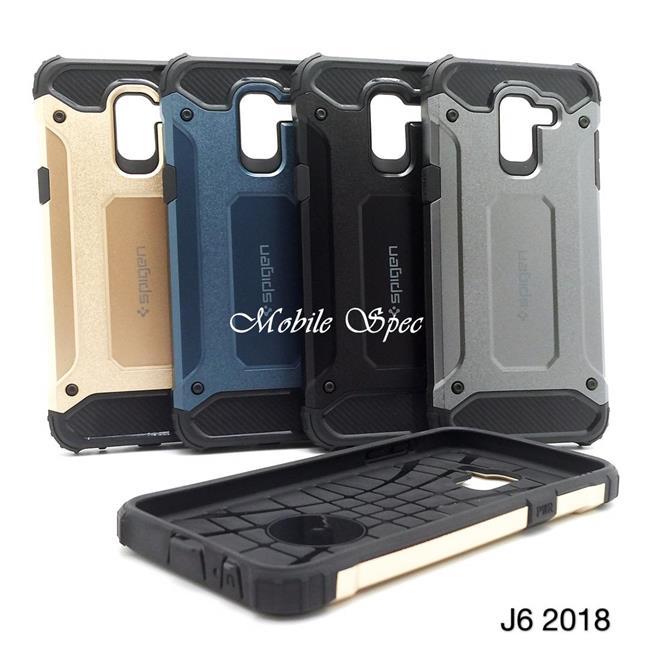 sale retailer 99763 d5bb9 SAMSUNG GALAXY J4 J6 J8 2018 SPIGEN TOUGH ARMOR TECH CUSHION CASE