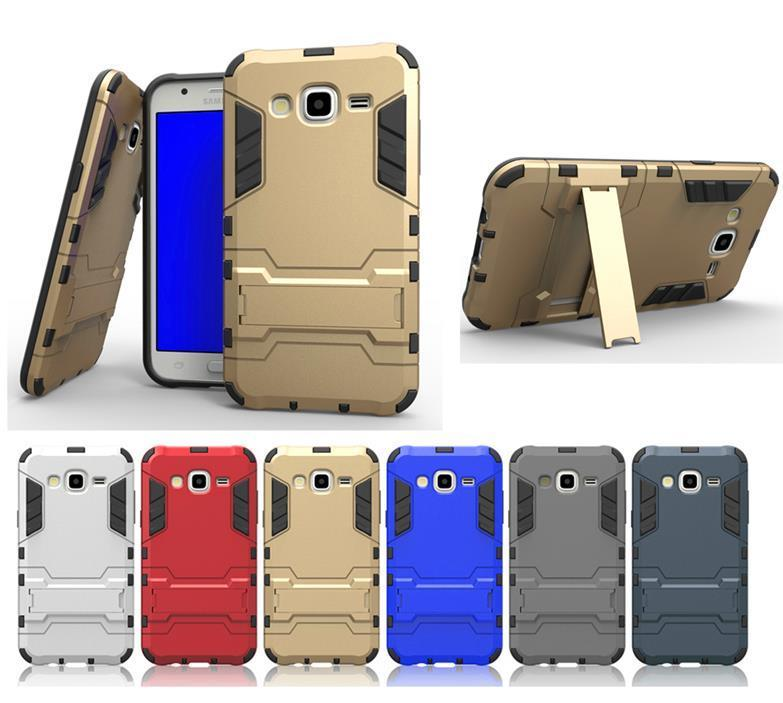 Samsung Galaxy J5 J7 A7 TPU+PC Armor Stand Case Cover Casing +Gifts