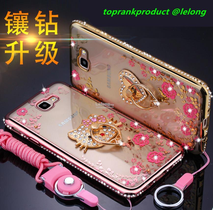 new arrival 83ed0 9341b Samsung Galaxy J5 / J7 Prime 2016 Diamond Ring Holder TPU Case Cover