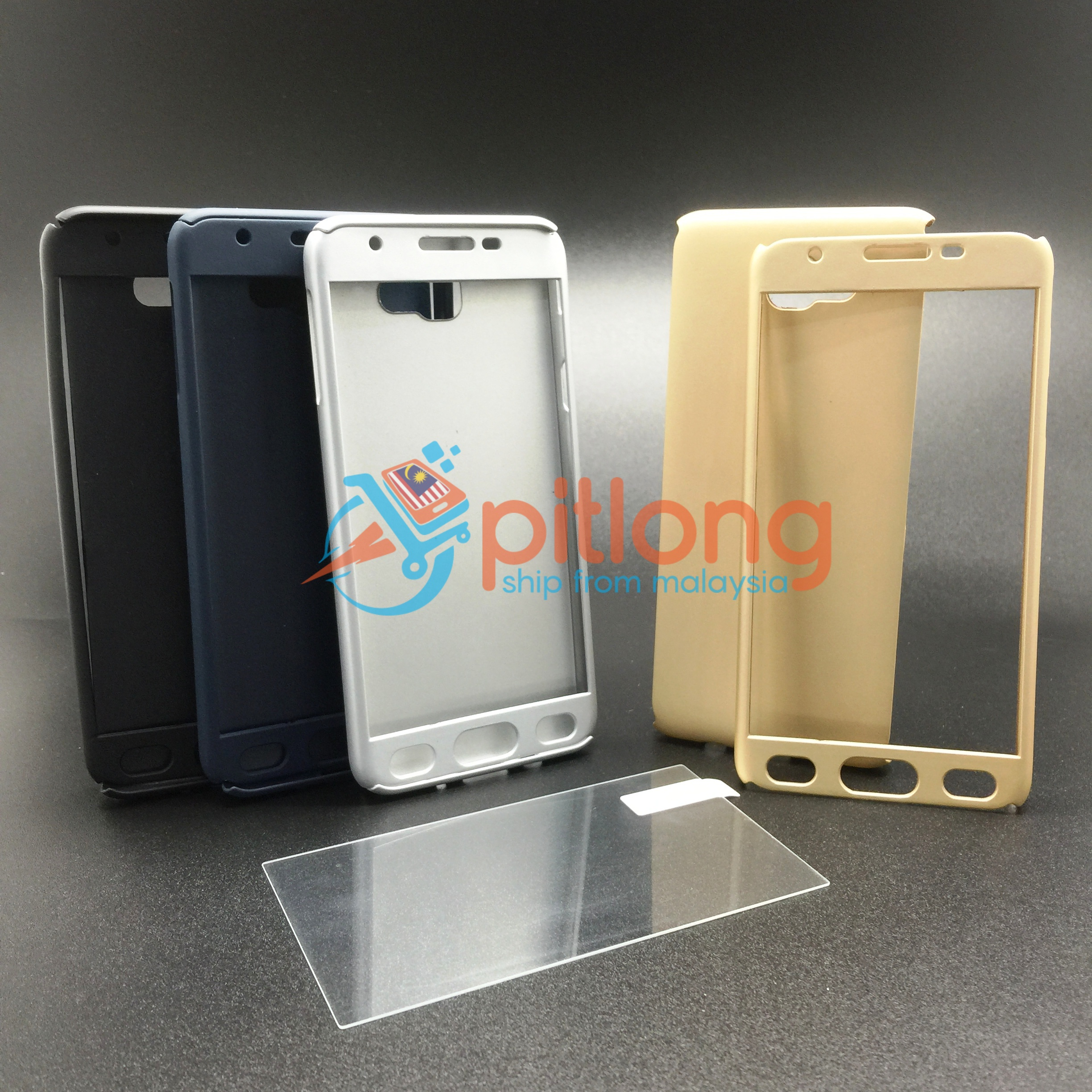 online store f1c88 a3390 SAMSUNG GALAXY J5 PRIME G570 360 FULL COVER CASE ^^ FREE TEMPERED GLAS