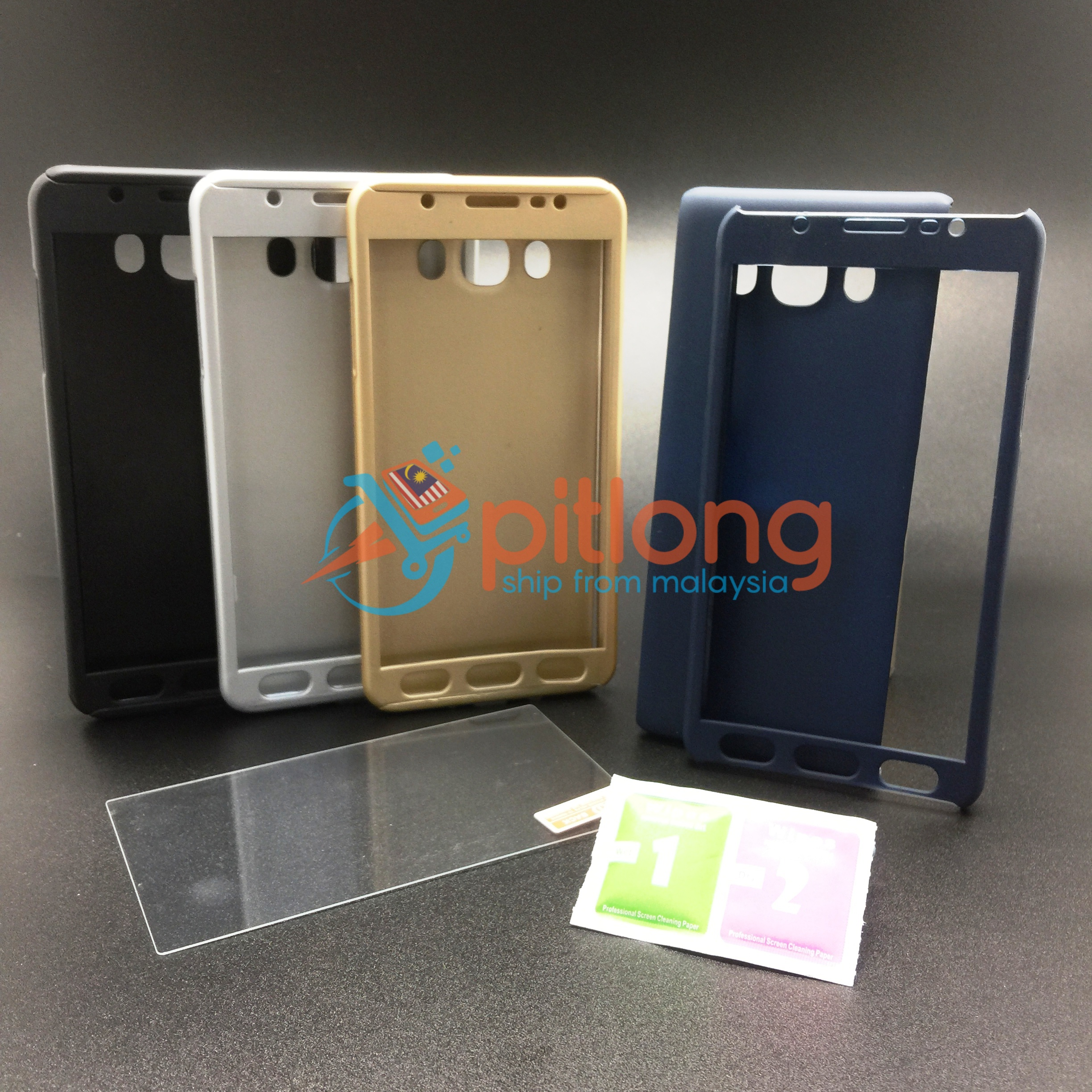 info for 83c0f 10507 SAMSUNG GALAXY J7 2016 J710 360 FULL COVER CASE ^^ FREE TEMPERED GLASS