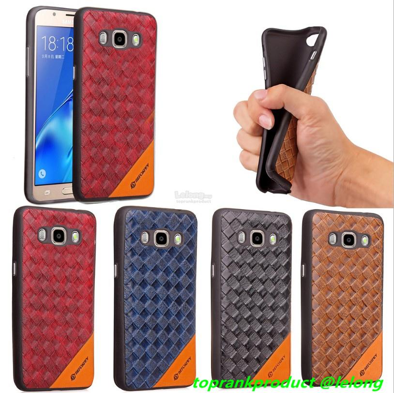 Samsung Galaxy J7 2016 Leather Silicone TPU Back Case Cover Casing