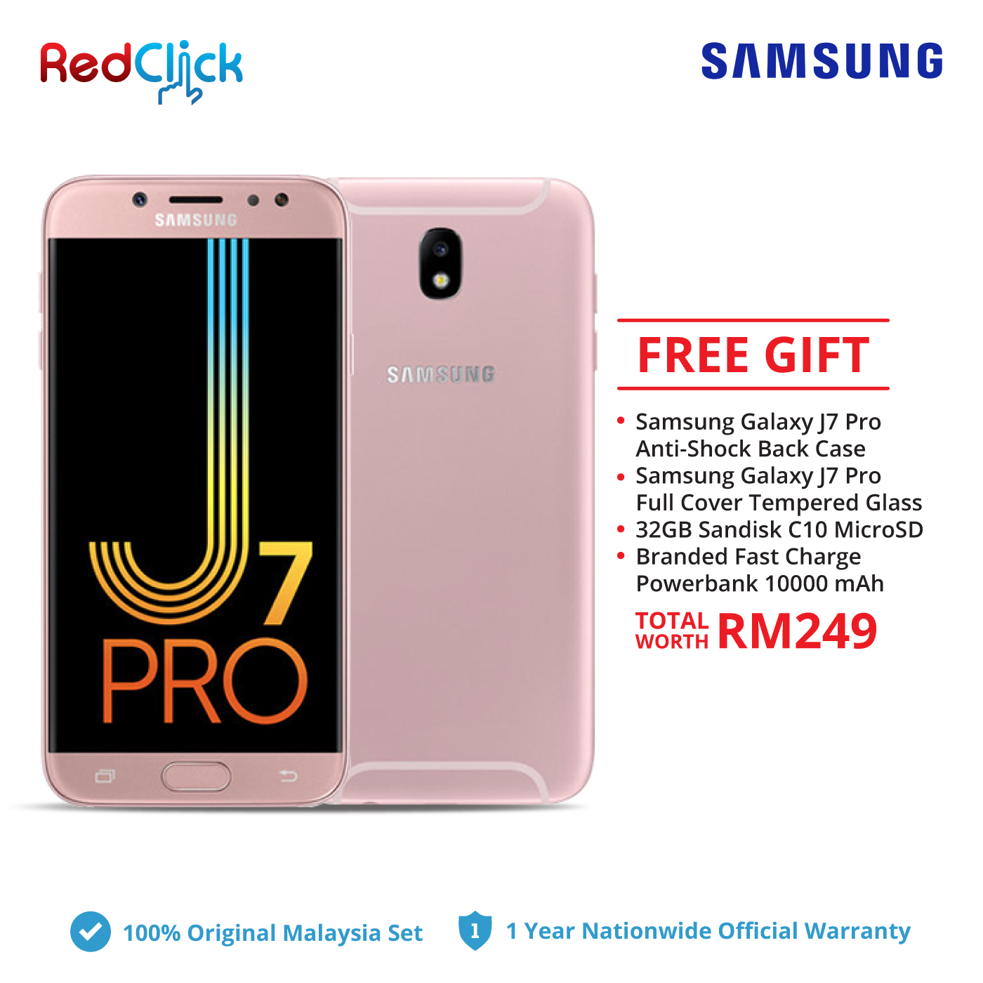 1510c09c79 Samsung Galaxy J7 Pro   j730g (3GB 32GB) + 4 Free Gift Worth. ‹ ›