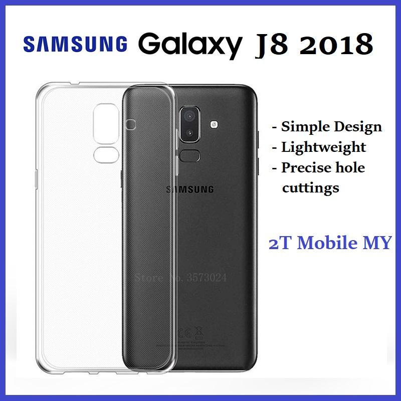 pretty nice 2ecb0 b336b Samsung Galaxy J8 2018 Soft Transparent Case Slim TPU Cover