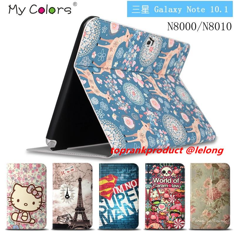 info for 0cfbc a955e Samsung Galaxy Note 10.1 N8000 Flip Cartoon Leather Case Cover Casing
