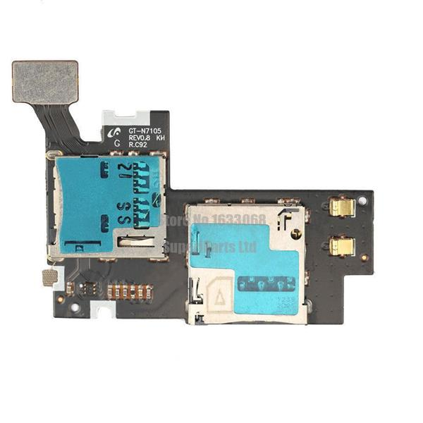 Samsung Galaxy Note 2 N7100 N7105 Sim Memory Card Ribbon Flex Cable