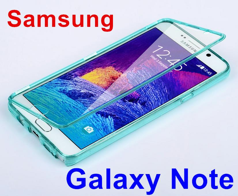 huge selection of 98c86 383a7 Samsung Galaxy Note 3 4 5 Transparent Flip Case Cover Casing + Gift