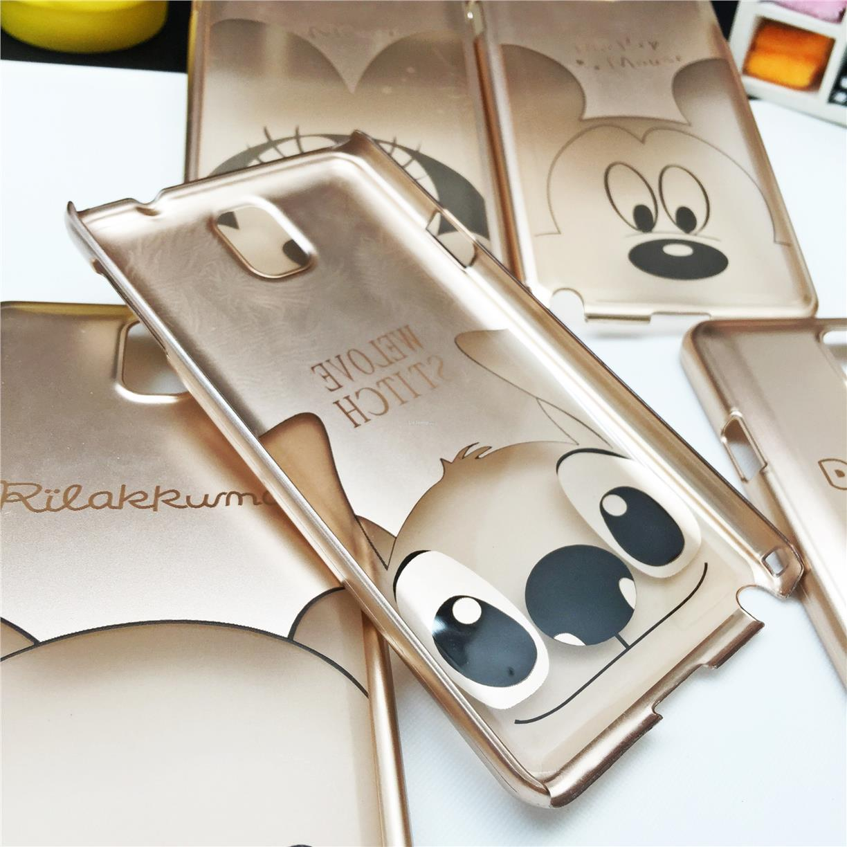 Samsung Galaxy Note 3 Cartoon Disney Gold Case