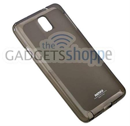 SAMSUNG GALAXY NOTE 3 N9000 REMAX GREY TPU SILICONE GEL SOFT CASE