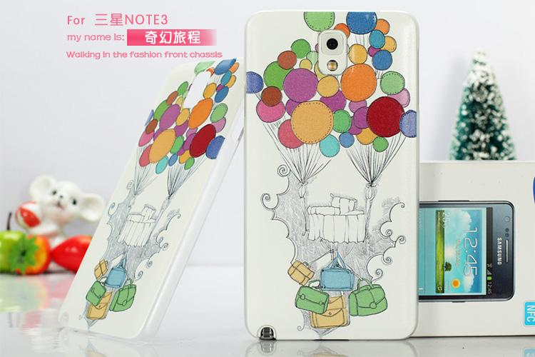 Samsung Galaxy note 3 N9005 3D Relief Case Cover Free Screen Protector