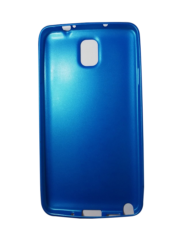 Samsung Galaxy Note 3 Note3 Silicone Soft Back Case Cover Casing-Blue
