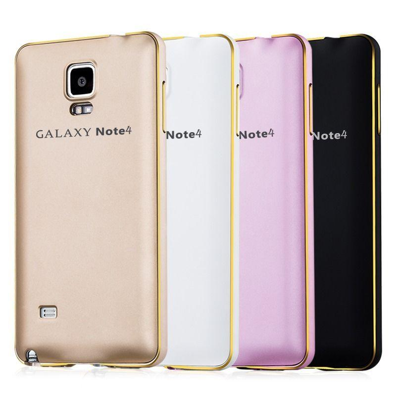 designer fashion 0e4af 9eb01 Samsung Galaxy Note 4 Luxury Metal Bumper + PC Back Cover Case - White