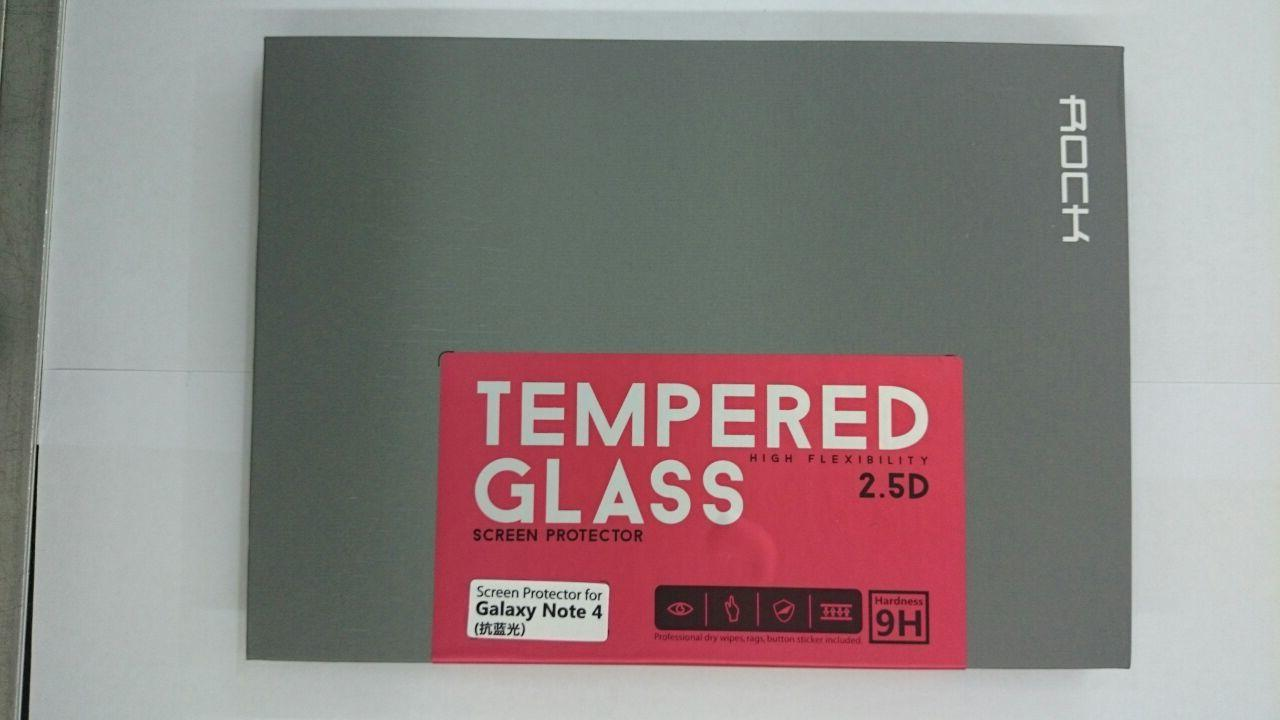Samsung Galaxy Note 4 Rock 9H Tempered Glass Protector Anti Blu-Ray
