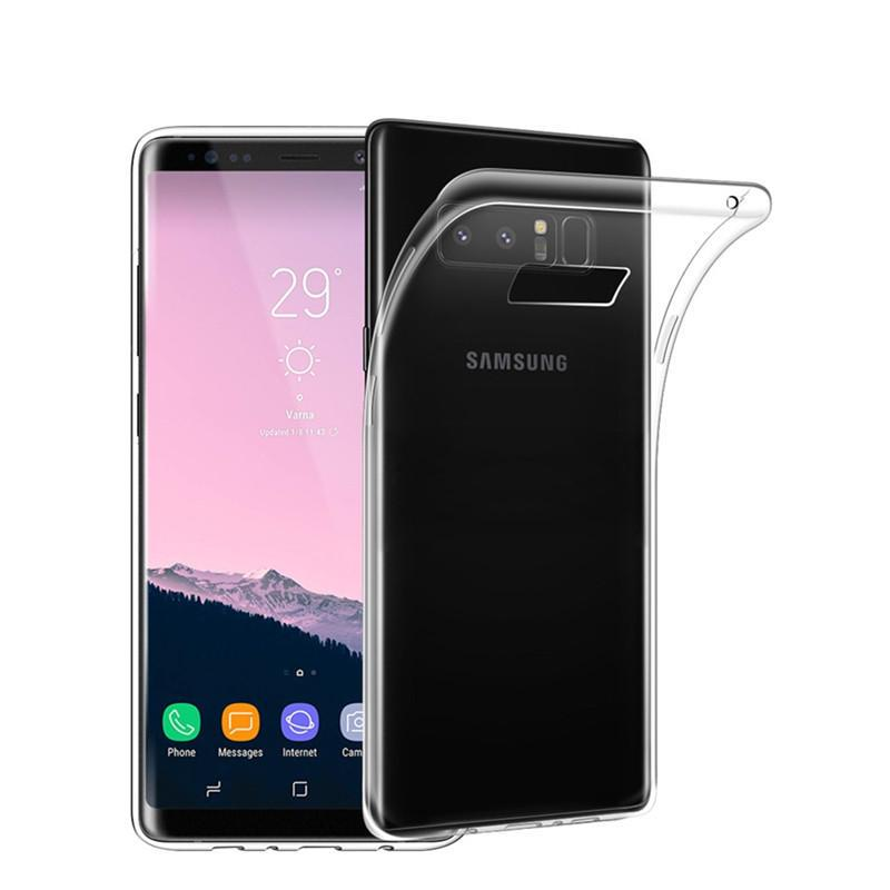 SAMSUNG GALAXY NOTE 8 SOFT TPU SILICONE TRANSPARENT BACK COVER CASE